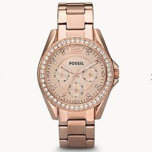 FOSSIL Riley Rose-Tone Stainless Steel Watch